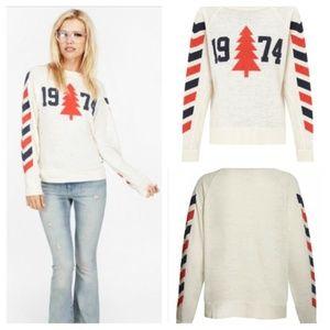 Wildfox 1974 Nantucket Tree Sweater XS
